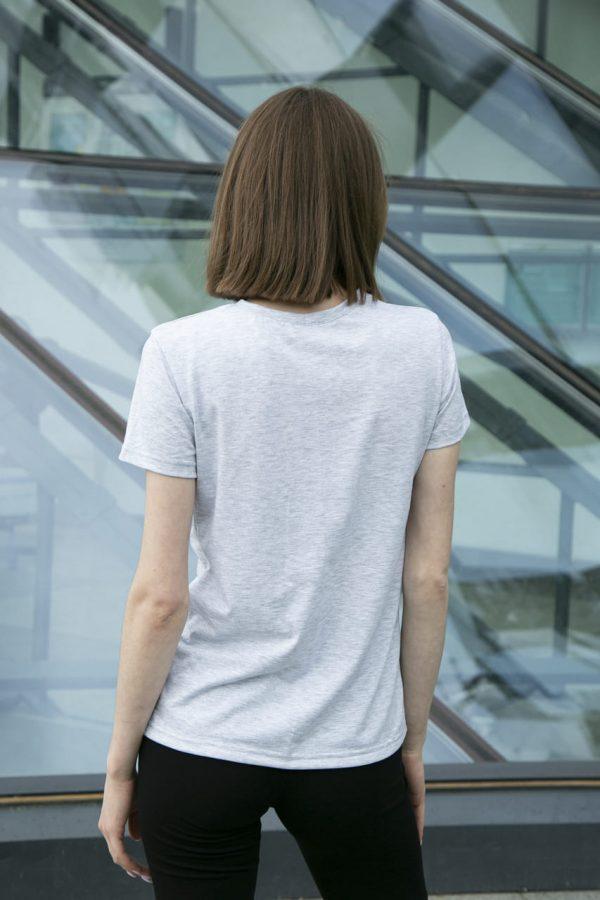 Женская футболка хлопок белая с принтом Avocado