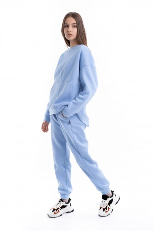 Костюм женский на флисе Basic Oversize голубой