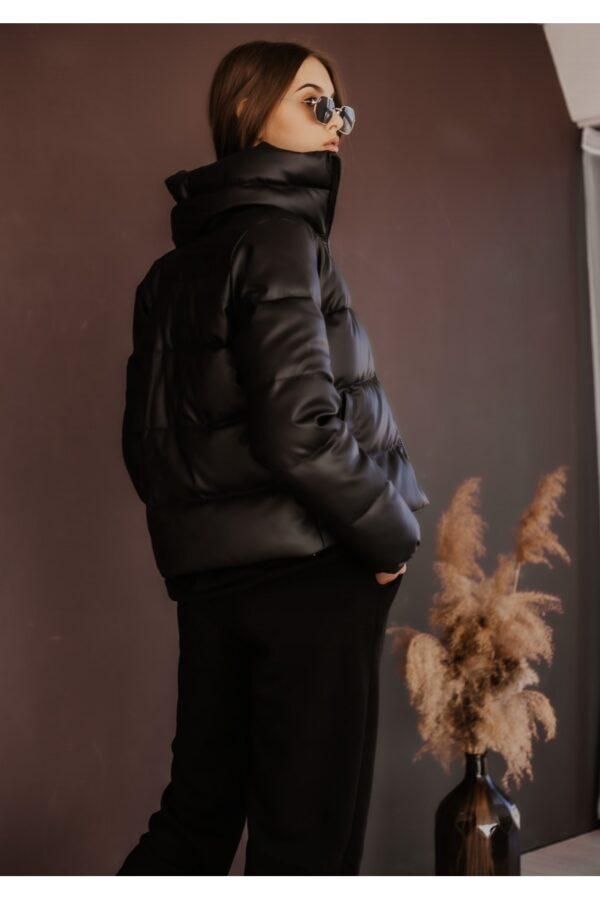 Пуховик укороченный весенний | осенний 'Bubble Intruder черный
