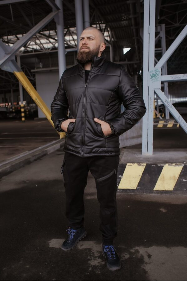 Куртка кожа весенняя / осенняя 'Skipper' Intruder черная