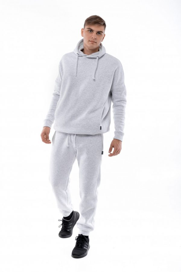 Костюм теплый Intruder Oversize (Худи + штаны) серый