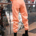 Штаны джогеры женские на флисе Basic Oversize розовые