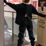 Костюм женский на флисе Basic Oversize черный