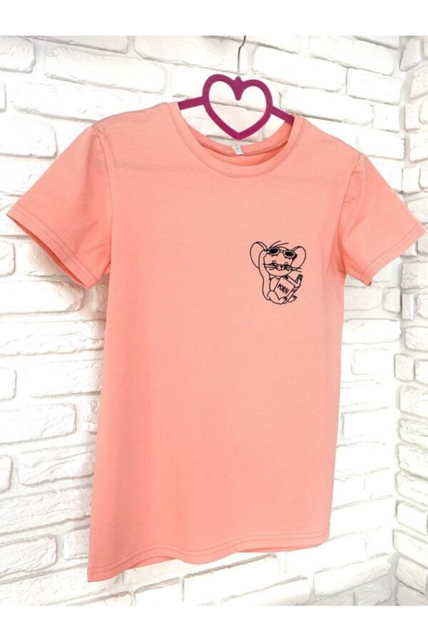 Женская футболка хлопок розовая с принтом Jerry