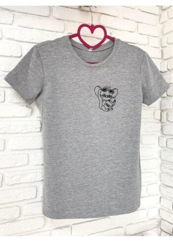 Женская футболка хлопок серая с принтом Jerry