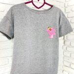 Женская футболка хлопок черная с принтом Pink Panther