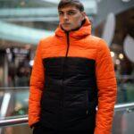 """Демисезонная Куртка """"Temp"""" Intruder оранжево - черная"""