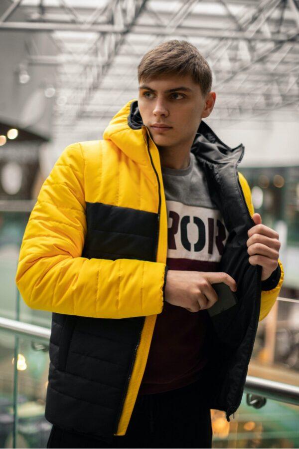 """Демисезонная Куртка """"Temp"""" Intruder желто - черная"""