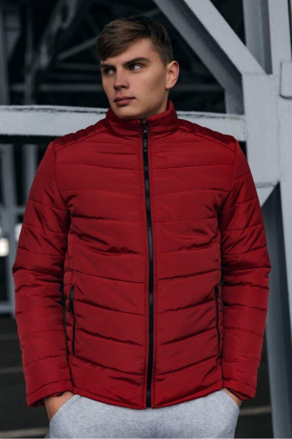 Весенняя куртка пуховик Memoru Intruder красная