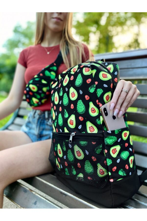 Комплект Рюкзак + Бананка Avocado черный