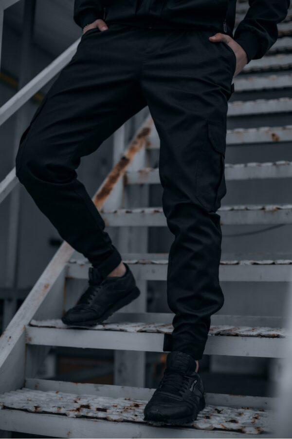 Штаны мужские коттоновые Intruder Baza черные