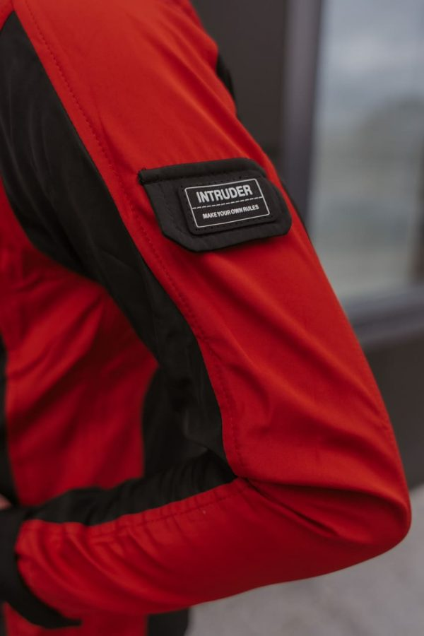Весенняя куртка Intruder SoftShell 'iForce' красно-черная