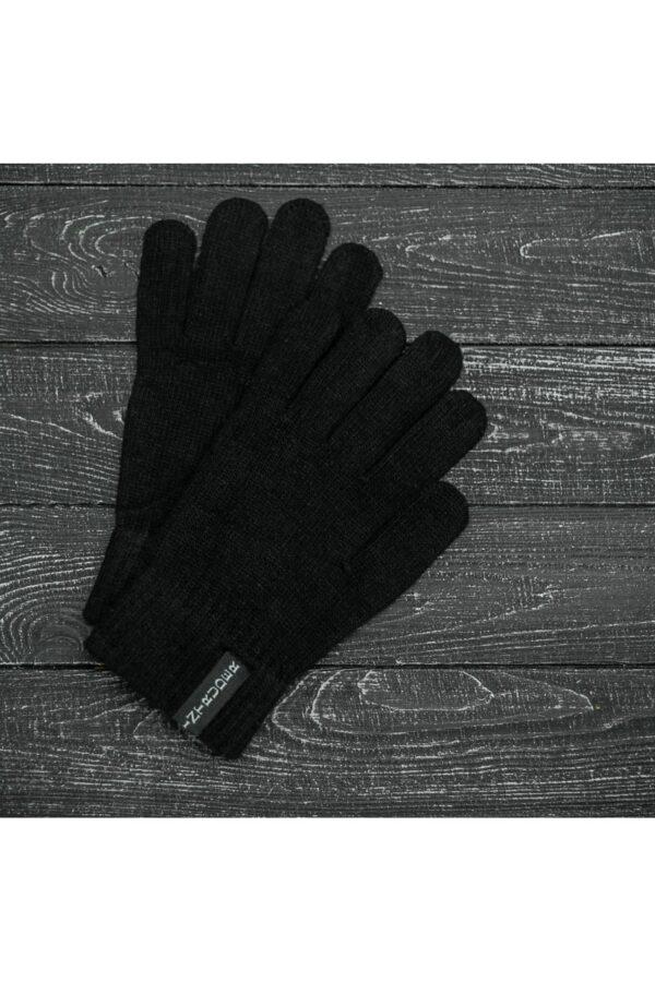 Шапка small logo + перчатки Intruder + перчатки черные, зимний комплект