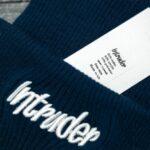 Шапка big logo синяя + перчатки Intruder черные зимний комплект