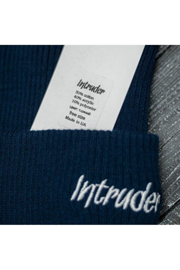 """Шапка """" Intruder """" Small logo синяя"""