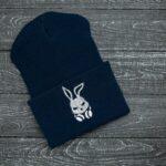 """Шапка """" Intruder """" Bunny logo синяя"""