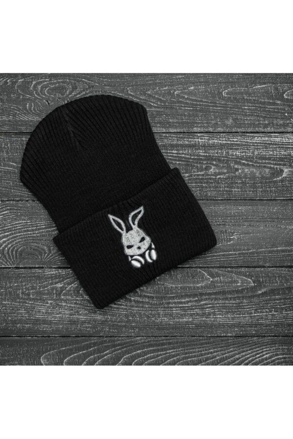"""Шапка """" Intruder """" Bunny logo черная"""