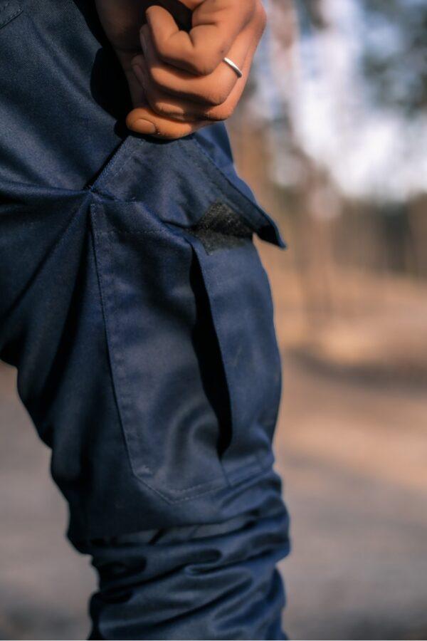 Штаны мужские коттоновые Intruder Baza синие