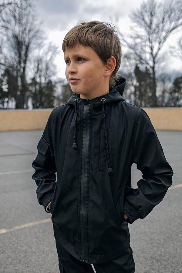 Детская куртка Softshell Easy Intruder черная