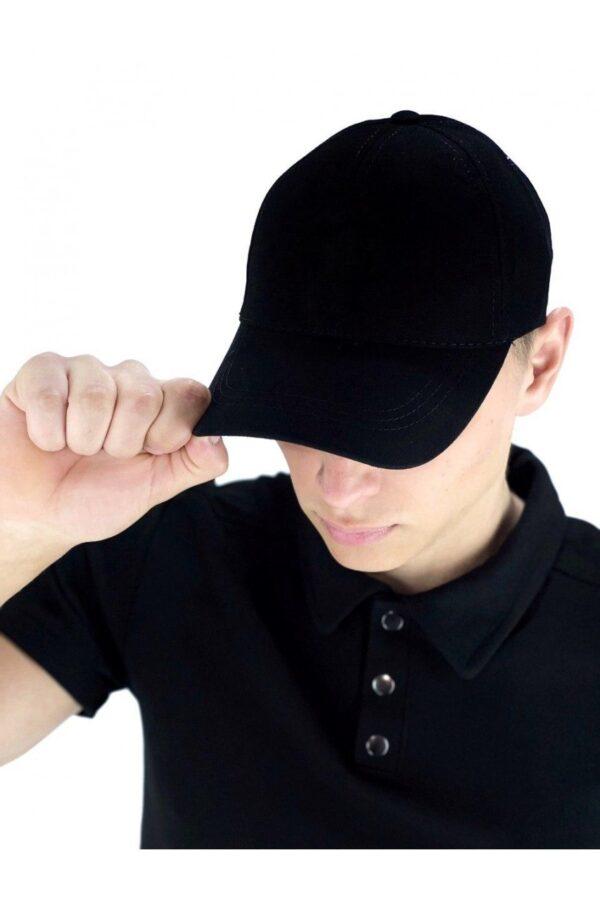 Кепка мужская   женская черная без лого