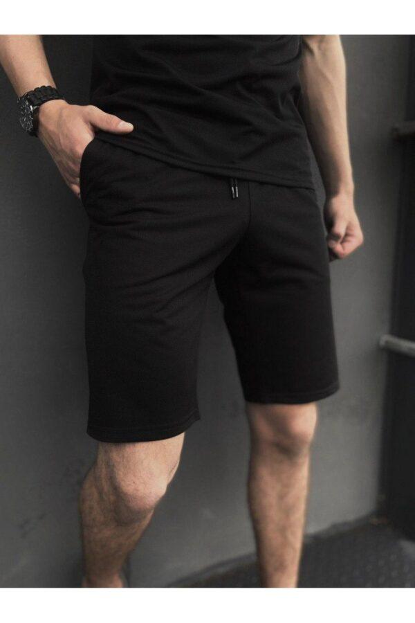 Комплект LaCosta Intruder футболка поло + шорты трикотажные + Кепка ( черный )