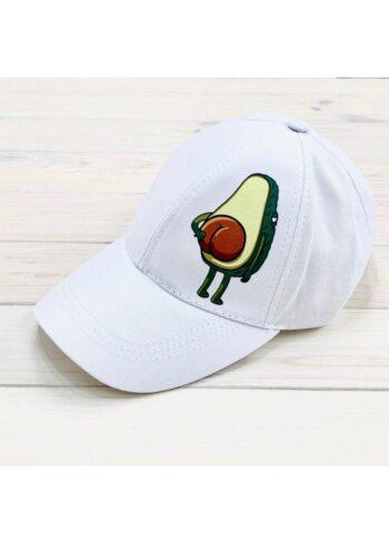 Кепка женская с принтом Avocado белая