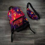 Комплект Рюкзак + Бананка Likee фиолет