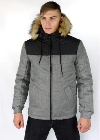 Зимняя куртка Alaska Intruder серо-черная