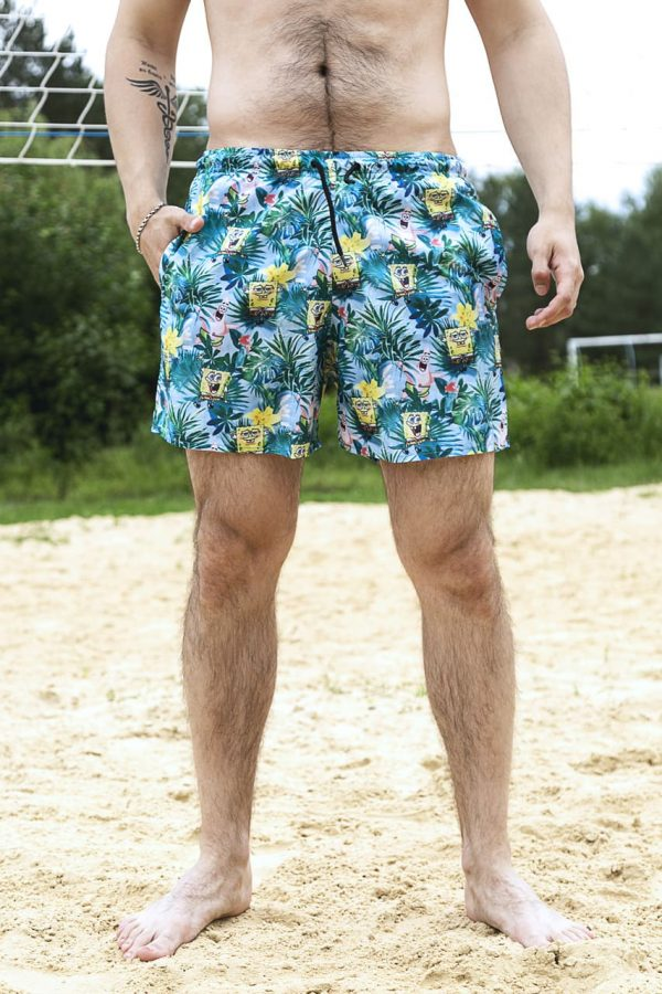"""Купальные пляжные Шорты Intruder """"SpongeBob"""" бирюзовый"""