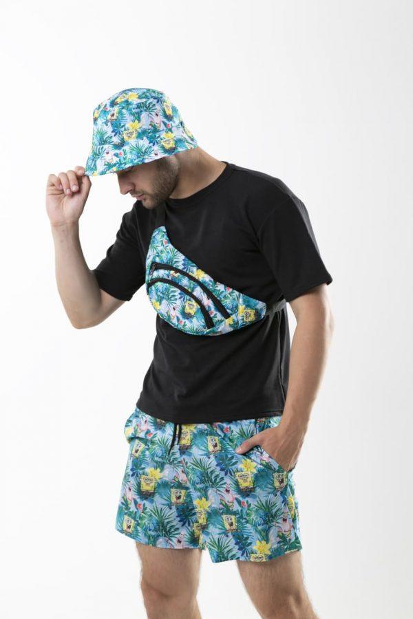 """Комплект """"Sponge Bob"""" Intruder Панама двусторонняя """"Sponge Bob""""+ бананка + шорты пляжные Intruder """"Breeze"""""""