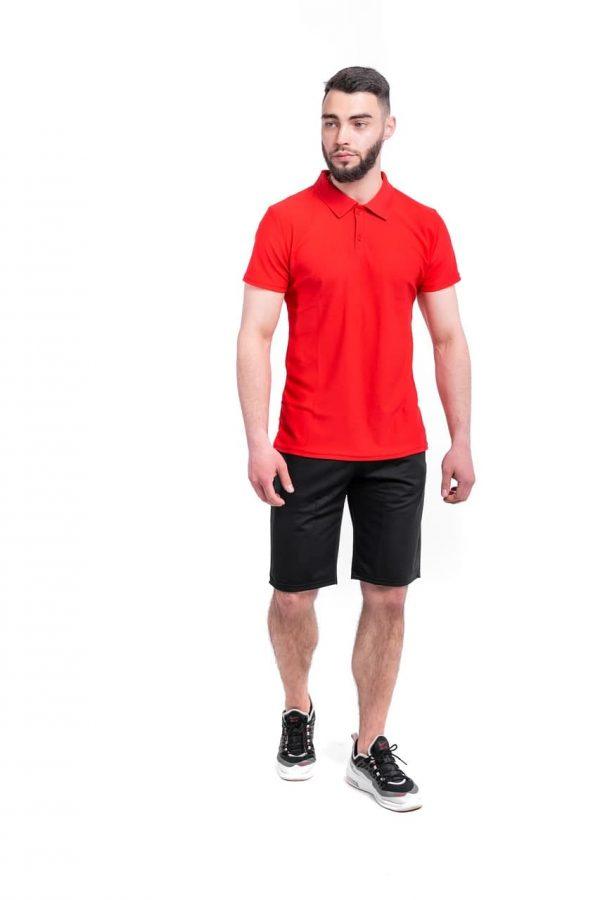 Комплект LaCosta Intruder футболка поло + шорты трикотажные ( красно-черный )
