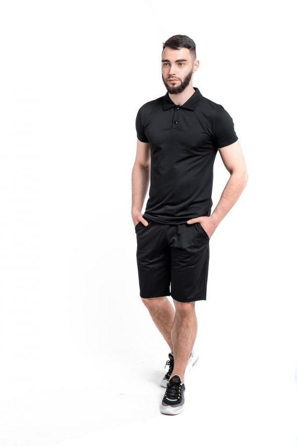 Комплект LaCosta Intruder футболка поло + шорты трикотажные ( черный )