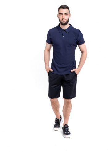 Комплект LaCosta Intruder футболка поло + шорты трикотажные ( сине-черный )