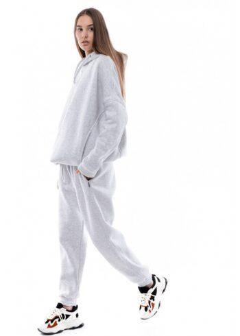 Костюм женский спортивный теплый Intruder Oversize серый