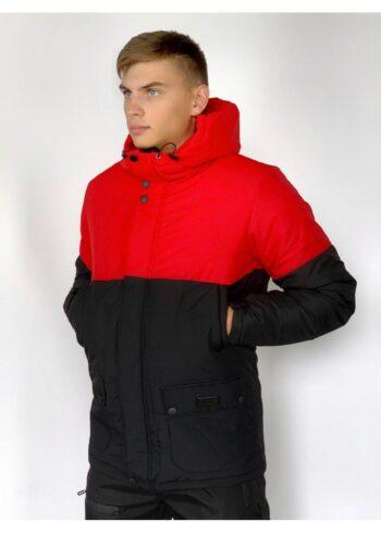 Демисезонная Куртка Waterproof Intruder (красно - черная)